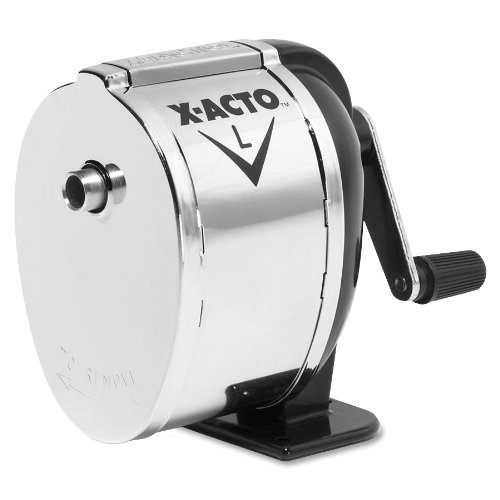 x-acto-1041-model-l-table-or-wall-mount-pencil-sharpener-chrome-receptacle-black-base-1-unit