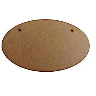 Blank Oval Plaque - MDF Wooden Craft Shapes 250mm x 150mm