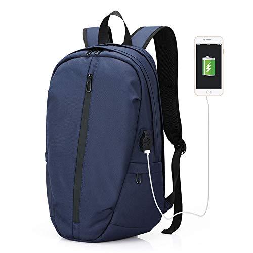 FPTB Business-Computer-Rucksack, Schulrucksack groß, USB-Ladeanschluss Reisetasche Wasserdicht Für 14-Zoll-Laptop-Oxford-Stoff,Royalblue