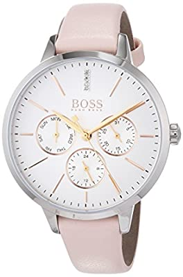 Hugo BOSS Unisex-Adult Multi dial Quartz Watch with Leather Strap 1502419