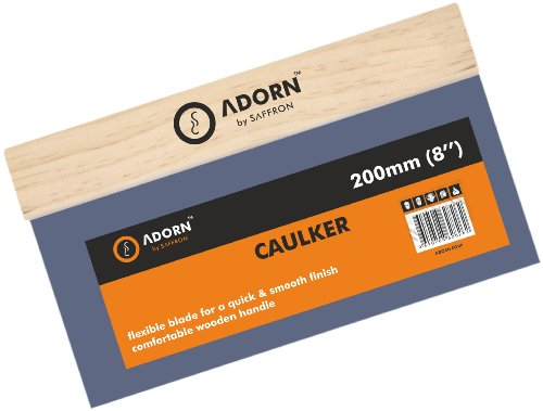 Adorn 62890 Bronze Stainless Steel Varnish Wooden Handle Caulkers 8 Inch / 200 mm Test