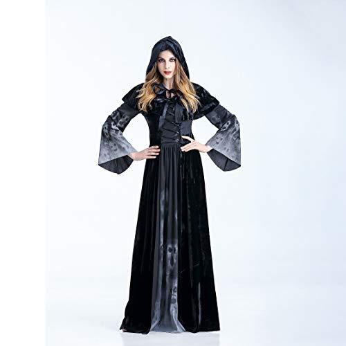 YRE Cosplay Horror Skelett Kleid Vampire Stage Party Kostüm Halloween Erwachsene Rolle Spielen Hexe Dämon Kostüm,XL