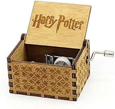 CWeep Wooden Mini Music Box Antique Carved Carved Carved Hand Cranked Harry Potter Music Box Handmade Theme Music Box Birthday Xmas Valentine''s Gift for Kids Friends  rs Families Valentines (Brown) | Outlet  95a92e