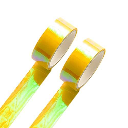 Deko Washi Tape Scrapbooking Aufkleber Ideal zur Foto Alben Scrapbook Seiten Handarbeit Dekoration Mehrere Farben klebrig für Heimwerker Craft Size 1.5CM (Gelb) ()