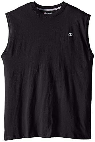 Champion Jersey Muskel-T-Shirt für Herren Großes Hoch schwarz -