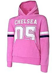 Chelsea F.C.–05–Top con Capucha Niñas 4/5años), color rosa