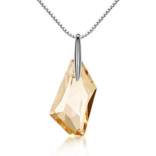 GoSparkling de cristal de plata esterlina colgante, collar con el cristal austríaco...