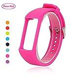 Bemodst® für Polar A360 Armband, Ersatzzubehör, Uhrenarmband, weiches Silikon Armband für Polar A 360 Smartwatch, rosarot