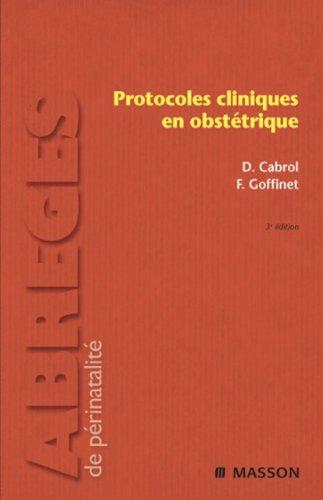 Protocoles cliniques en obsttrique