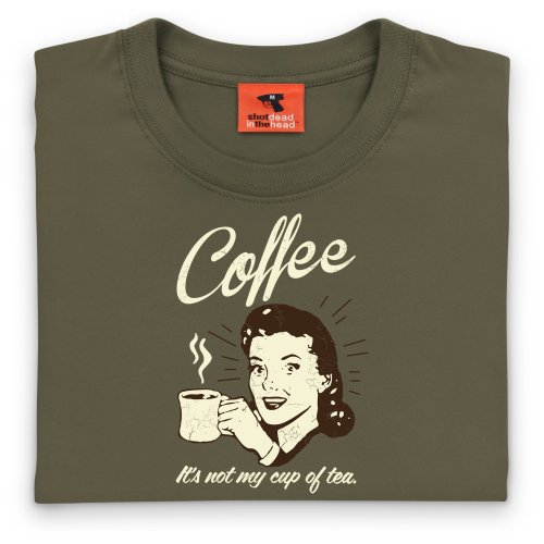 Coffee T-Shirt, Damen Olivgrn