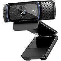 Logitech C920 HD Pro Webcam, Videochiamate e Registrazione Full HD 1080 P, Due Microfoni Audio Stereo, Nero
