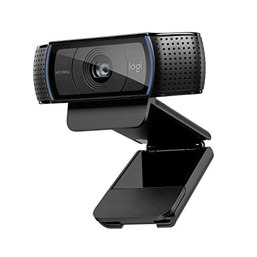 Logitech C920 HD Pro Webcam, Videochiamate e Registrazione Full HD 1080 P, Due Microfoni Audio Stereo, Nero