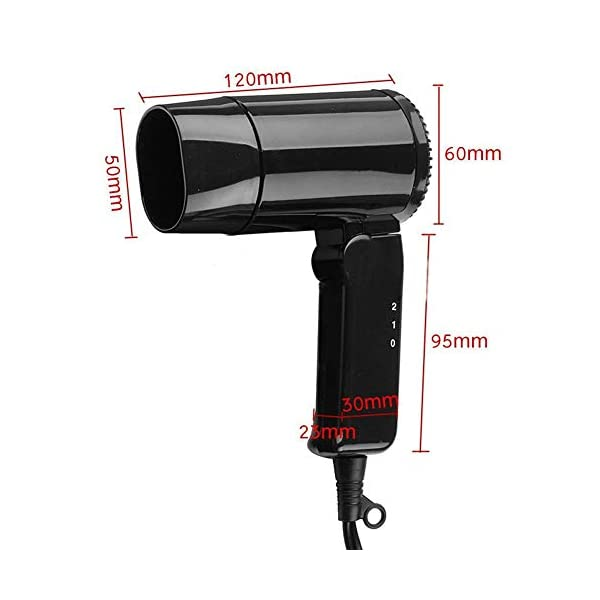 Starmood 12V Hot & Cold Travel Car Folding Camping Hair Dryer Window Defroster 4