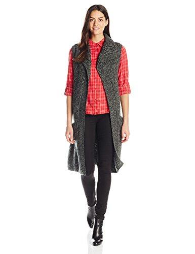Schwarze Lange Pullover Duster (prAna–Damen Thalia Pullover Medium schwarz)