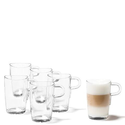 LEONARDO 086576 Set Latte Macchiato Becher Loop 6-teilig (Latte Macchiato Tasse)
