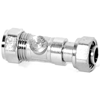 Plumb-Pak Compression Service Valve Straight 15mm x 1/2inch Female - Pack of 2