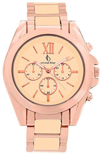 Crystal blue Damen-Armbanduhr Damenuhr rosegold Damen Uhren Armbanduhr rose gold Armband Damenuhren Analog Quarz 922259