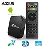 Aoxun X96 Smart TV Box Android 7.1 - Processeur Quad Core Amlogic S905W, 2 Go de RAM & 16 Go de ROM, 4K Ultra HD H.265, 2 ports USB, HDMI, lecteur médias sans fil - Version 2018