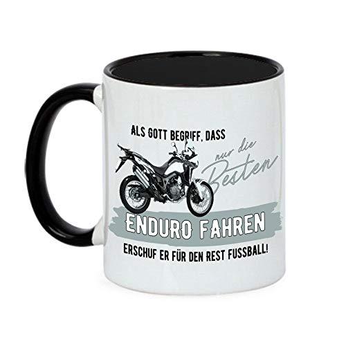 Siviwonder Tasse Gott besten Enduro Fahren Vintage Bike NO Fußball Kaffeebecher Cross -