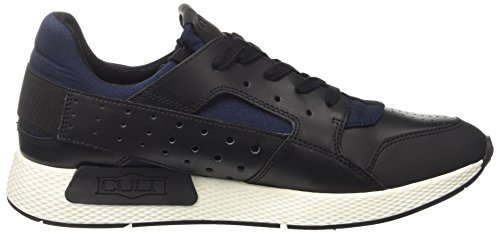 Cult Herren Lemmy Low 1488 Niedrige Sneaker Multicolore (nero / Blu)