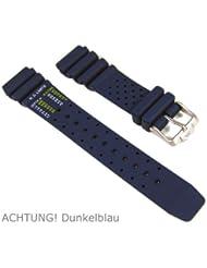 Original Citizen Ersatzband Uhrenarmband Kautschuk dunkelblau 20mm für Promaster Diver NY0040-17LE