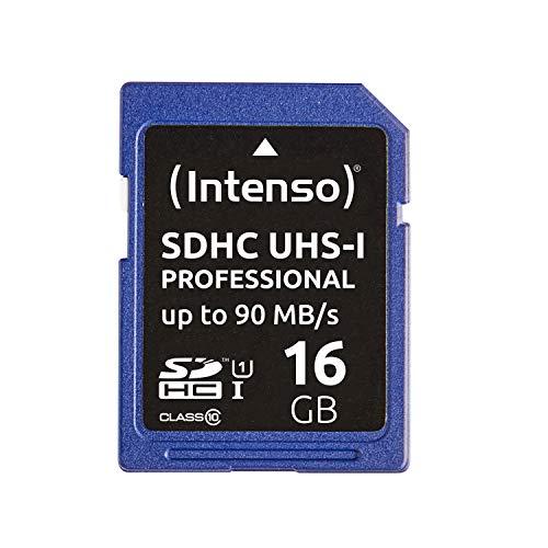 Intenso Professional SDHC UHS-I Class 10 16GB Speicherkarte (bis 90Mbps) schwarz