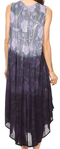 Sakkas Alicia Ombre Stampa Vine Batik Dress / Cover Up con i Sequins e il ricamo Marina Militare
