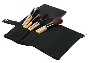 Fantasia - 1918 - Set de pinceaux à maquillage 5 pièces - Poils naturels - Manche en bois - Pochette zippée - Dimensions :14 x 20 cm