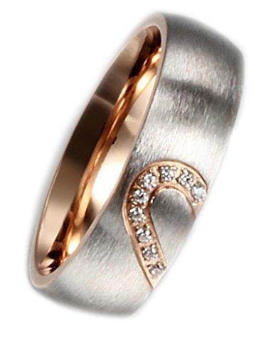AMDXD Schmuck Edelstahl Damen-Ringe Zirkonia Bands Größe 54 (17.2) (Damen-armband Cartier)