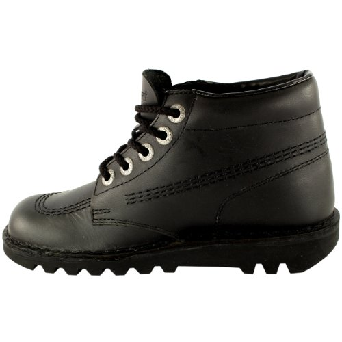 Femmes Kickers Kick Hi Classique Cuir Bureau Travail Bottines Chaussure Marine