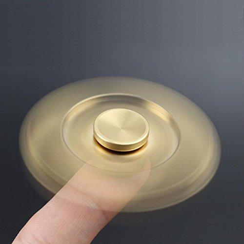 Preisvergleich Produktbild HZSSEC Tri Fidget Aluminium Hand Gyro Spinner Teelöffel 1-3 Minuten, HZSSEC Würfel Finger Toy Hand reduziert Stressabbau Angst beste Geschenk für Sie und Ihre Freunde - golden