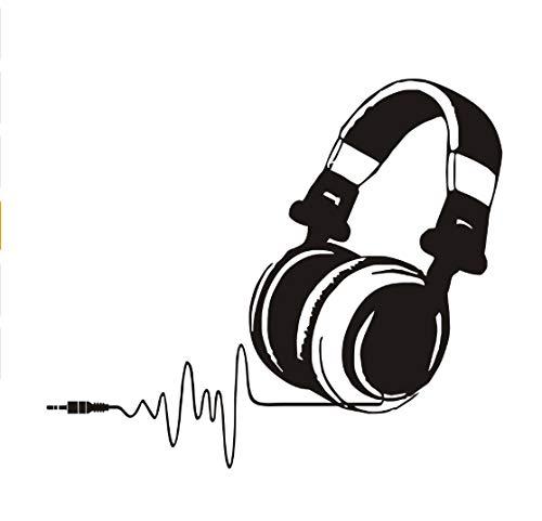 Wandaufkleber Kopfhörer Schlafzimmer Dekor Skizze Kreative Diy Vinyl Abnehmbare Music Shop Klassenzimmer Dekoration Zubehör 51 cm * 44 cm (Klassenzimmer Dekorationen Billig)
