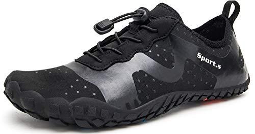 Zapatos de Agua para Hombre Mujer Zapatillas de Deporte Exterior para Secado Rš¢pid para Barefoot Surf Piscina Playa Vela Kayak Calzado de Nataciš®n (Negro,Tama?o46)