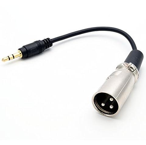 igreely 15cm/15,2cm 3,5mm (Mini) 1/20,3cm Stereo TRS männlich auf XLR männlich Audio Adapter Mikrofon Kabel Smartphone auf Stereo-Mixer Board für iPhone, iPod, Computer, und mehr