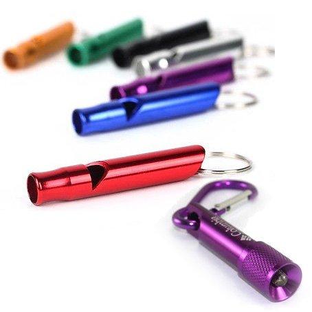 """piluno® Sicherheit Essentials Persönlichen Attack (Panik/Rape Alarm) Schlüsselanhänger Whistle mit Micro """"Blendendes LEDs Schlüsselanhänger Taschenlampe"""