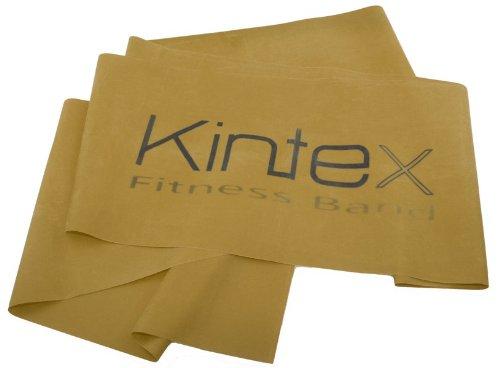 Kintex Gymnastikband Latexband 2.5m x 15cm Fitnessband, Gold (max. stark)