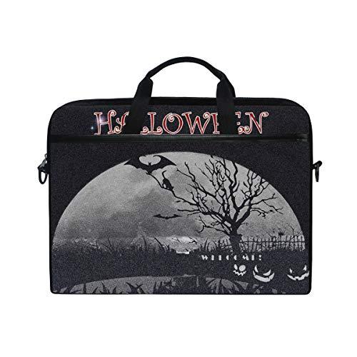 Bennigiry Halloween-Laptoptasche, Schultertasche, Aktentasche, für 38,1-39,62 cm (15-15,4 Zoll)