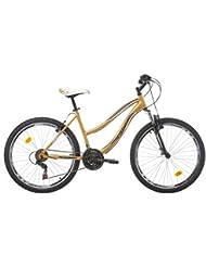 "Bikesport ALICE Bicicleta de montaña para mujer, rueda 26"", Shimano 21 velocidades"