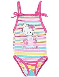 Maillot de bain 1 pièce bébé fille Charmmy kitty Rayures multicolores 6 à 23mois