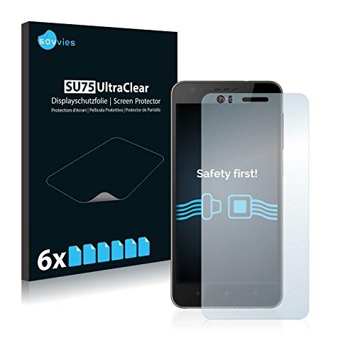 6x Savvies Displayschutzfolie für HTC Desire 10 Lifestyle Folie Schutzfolie Displayfolie - Klar