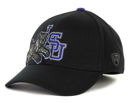 LSU Tigers Top of the World NCAA Kupplung schwarz Stretch one-fit Cap Top Of The World Stretch-cap