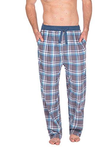Herren Gewoben Freizeithose Schlafanzug Pyjama Hose Karierter Flanell Pyjama PJS S-XL - GRAU HINTERLEGT 31B249, Medium (Rot Pyjama-hose)