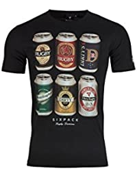 Rugby Division TMC Sixpack Graphique - T-Shirt de Rugby - Noir