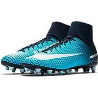 Botas Fútbol Nike MercurialX Victory VI Azul Con Calcetin Suela AG Niño
