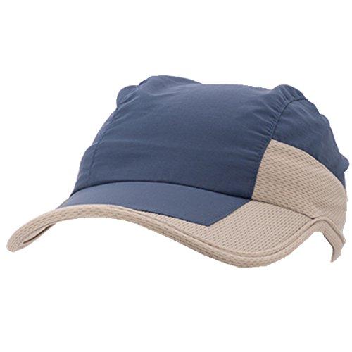 Lawevan® Séchage Unisexe rapide Hommes Couleur Blocage Caps Cap Baseball Bleu