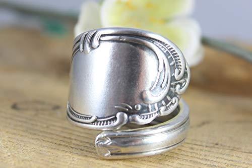 Rokoko Besteckschmuck Ring, ca. 66 (21,2) Ring aus Besteck