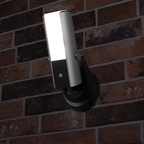 41toJWEL8QL [Bon Plan Netatmo] Smartwares Guardian CIP-39901 - Caméra de surveillance connectée avec éclairage intégré, alarme et audio 2 Voies