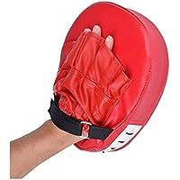 Almohadillas de boxeo de piel a la moda, almohadillas de boxeo para artes marciales, Muay Thai, entrenamiento acolchado perforación, golpe de entrenamiento rosso