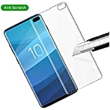 HITFIT Premium Real 5D 9H Anti-Fingerprints & Oil Stains Coating Hardness Screen Protector Guard Tempered Glass (Transparent) for Samsung Galaxy S10 Plus