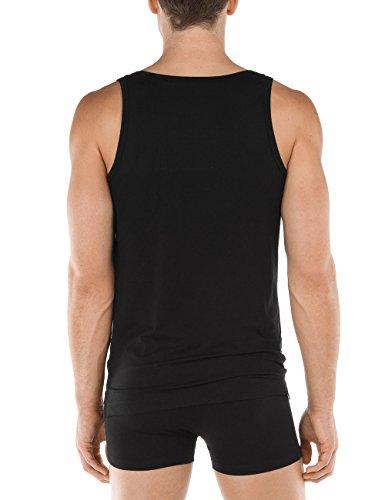 Calida Alp Flix Athletic-Shirt, T-Shirt Uomo black (Schwarz 992)